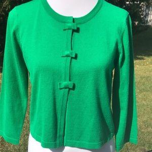 Cable & Gauge Emerald Green cardigan